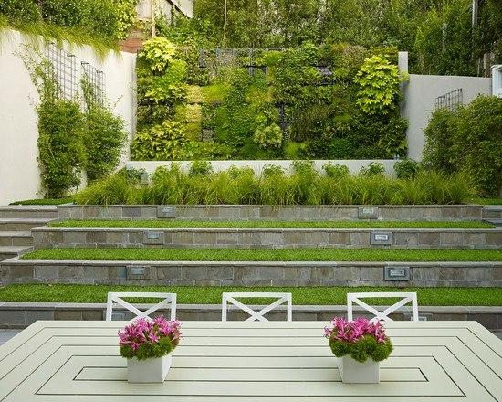 amenagement jardin pente pas cher
